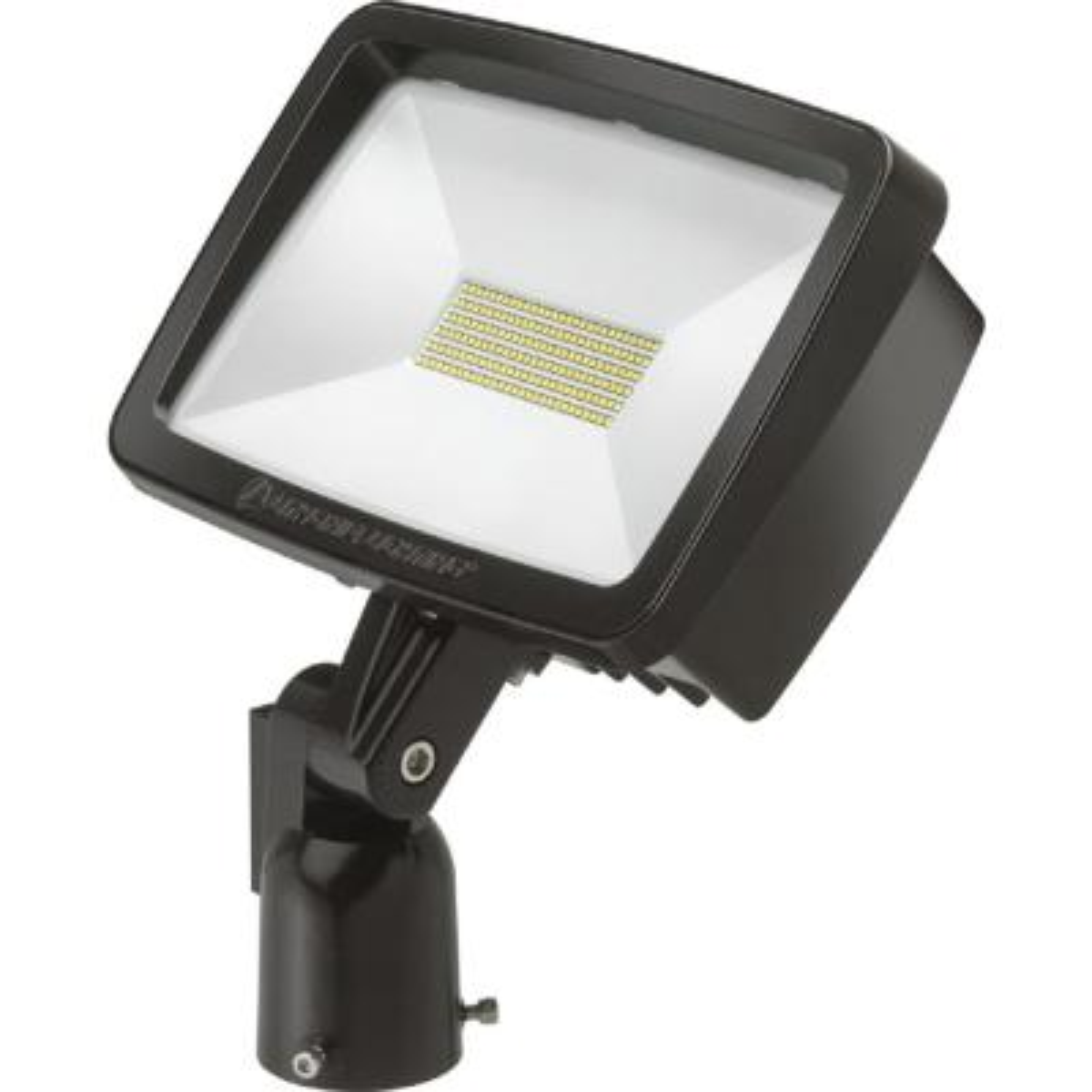 Contractor Select TFX2 94-Watt Dark Bronze Yoke Mount Outdoor Integrated LED Flood Light 4000K