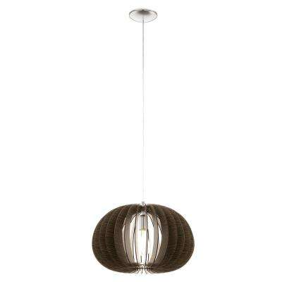 Cossano 1-Light Matte Nickel Pendant