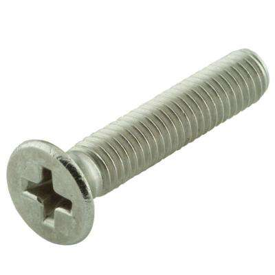 #6-32 x 1-1/2 in. Phillips Flat Head Stainless Steel Machine Screw (25-Pack)