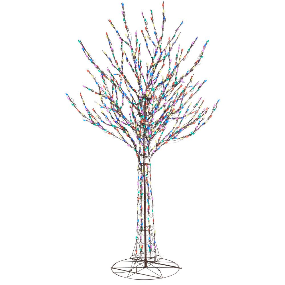 Home Accents Holiday Christmas Bare Branch Tree Lighted Multi Color Lights 96 In   eBay