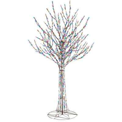 96 in. LED Pre-Lit Bare Branch Tree with Multi-Color Lights