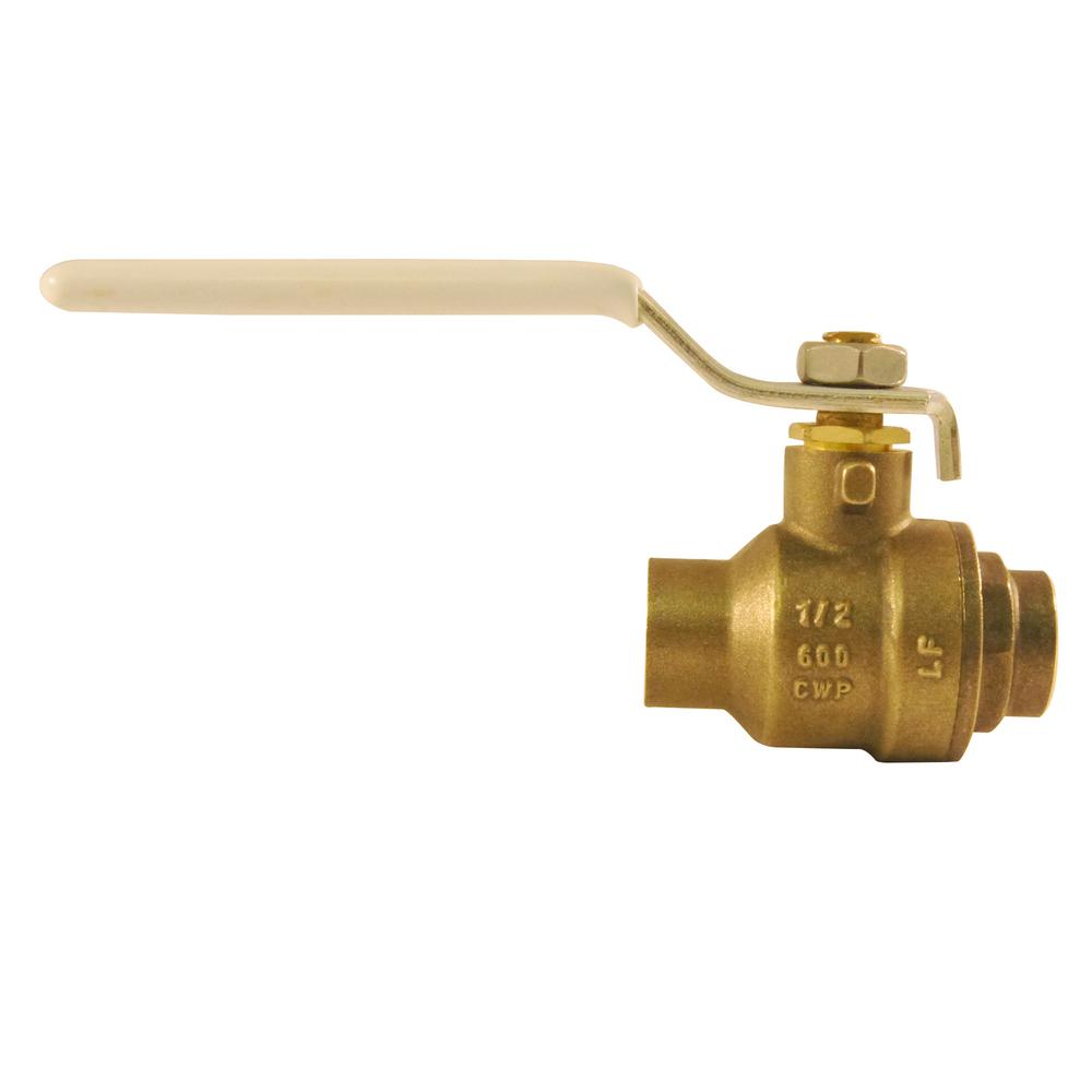 1/2 in. Lead Free Brass SWT x SWT Ball Valve