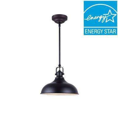 Sussex Black LED Pendant with Metal Shade