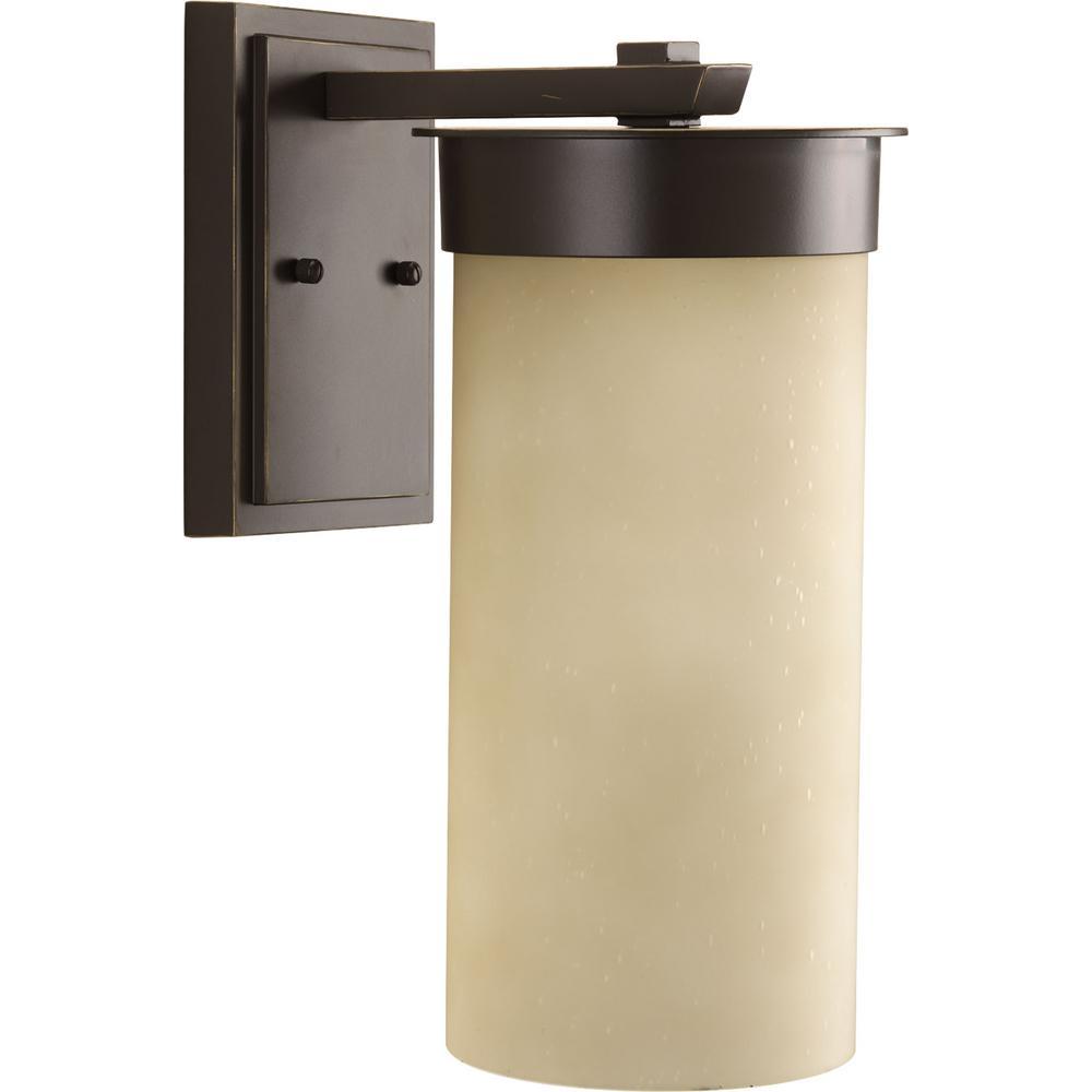 Hawthorne 1-Light Antique Bronze 16 in. Outdoor Wall Lantern Sconce