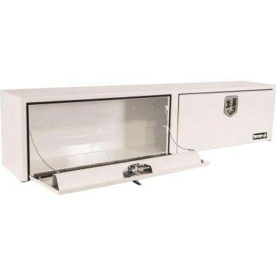 White Steel Topsider Truck Box with T-Handle Latch, 16 in. x 13 in. x 88 in.