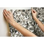 York Wallcoverings 28.18 sq. ft. Tan Palm Peel and Stick Wallpaper