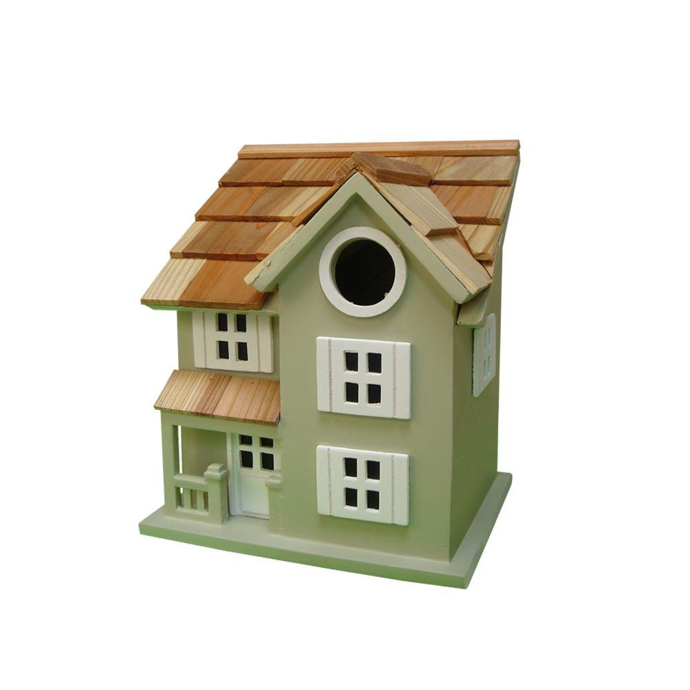 Home Bazaar Townhouse Birdhouse (Green)