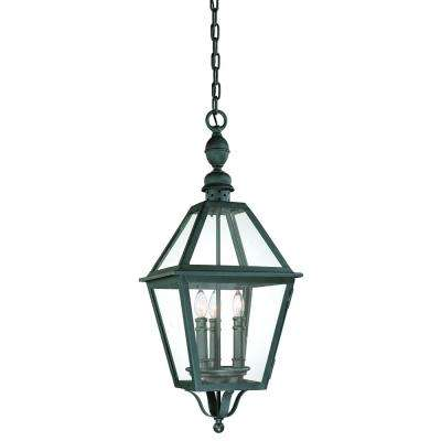 Townsend 3-Light Natural Bronze Outdoor Pendant