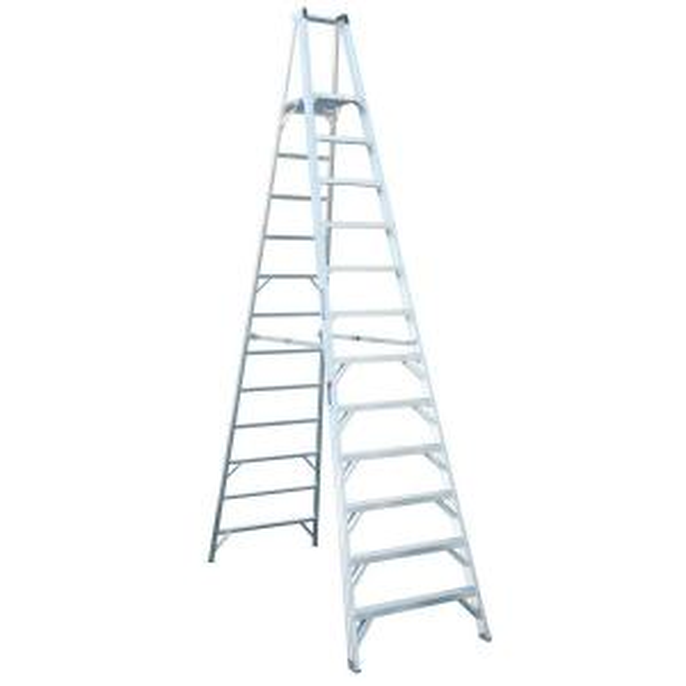 Werner 12 Ft Aluminum Platform Step Ladder With 300 Lb