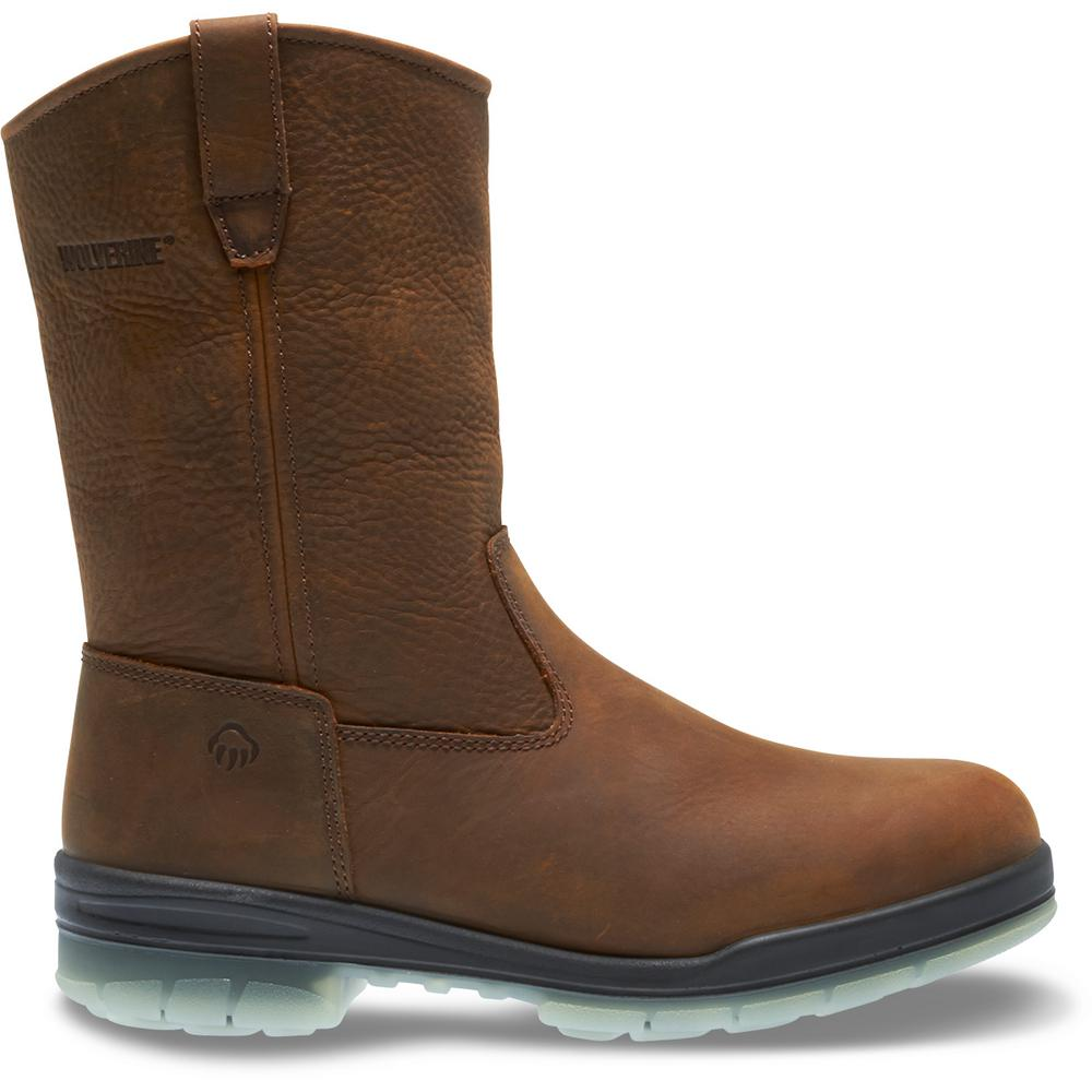 adea9680057 Wolverine Men's I-90 Durashocks Size 8.5M Brown Nubuck Leather Waterproof  10 in. Boot