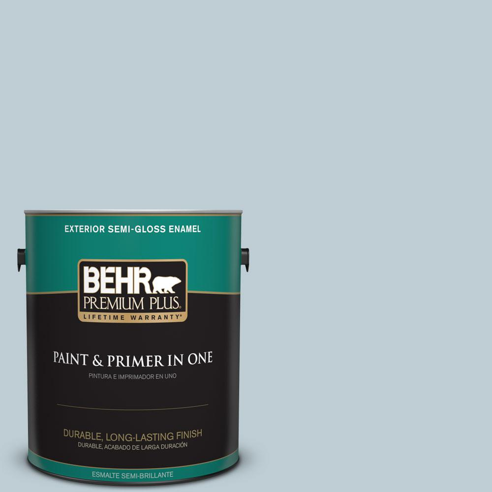 1-gal. #540E-2 Cloudy Day Semi-Gloss Enamel Exterior Paint