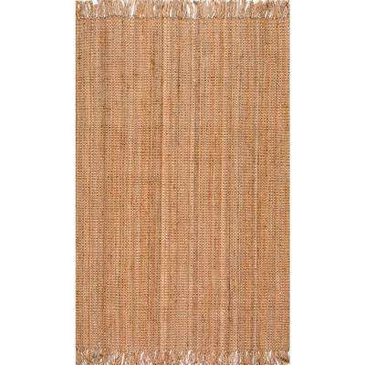 Chunky Loop Jute Beige 5 ft. x 7 ft. 6 in. Area Rug