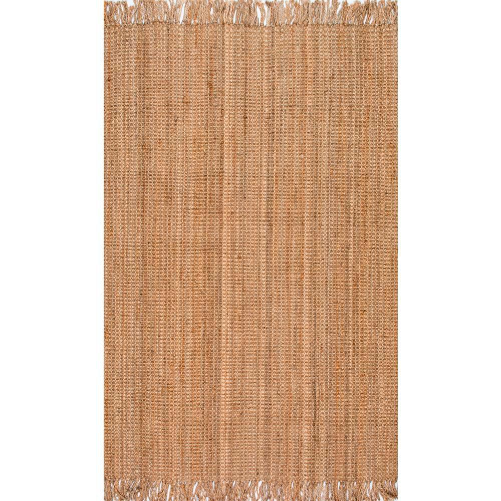Nuloom Natura Collection Chunky Loop Jute Natural 6 Ft X 9 Area Rug