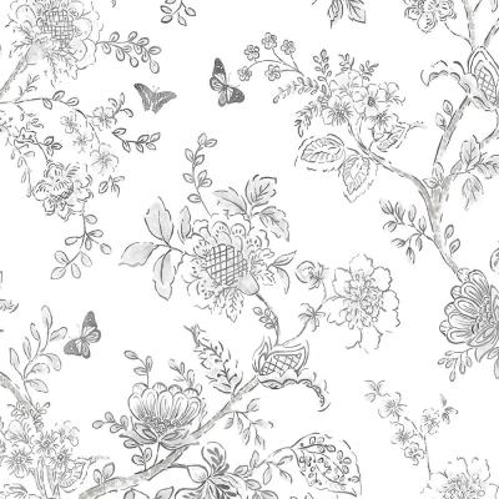 Butterfly Toile Wallpaper