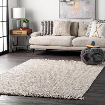 Natura Chunky Loop Jute Off-White 8 ft. x 10 ft. Area Rug