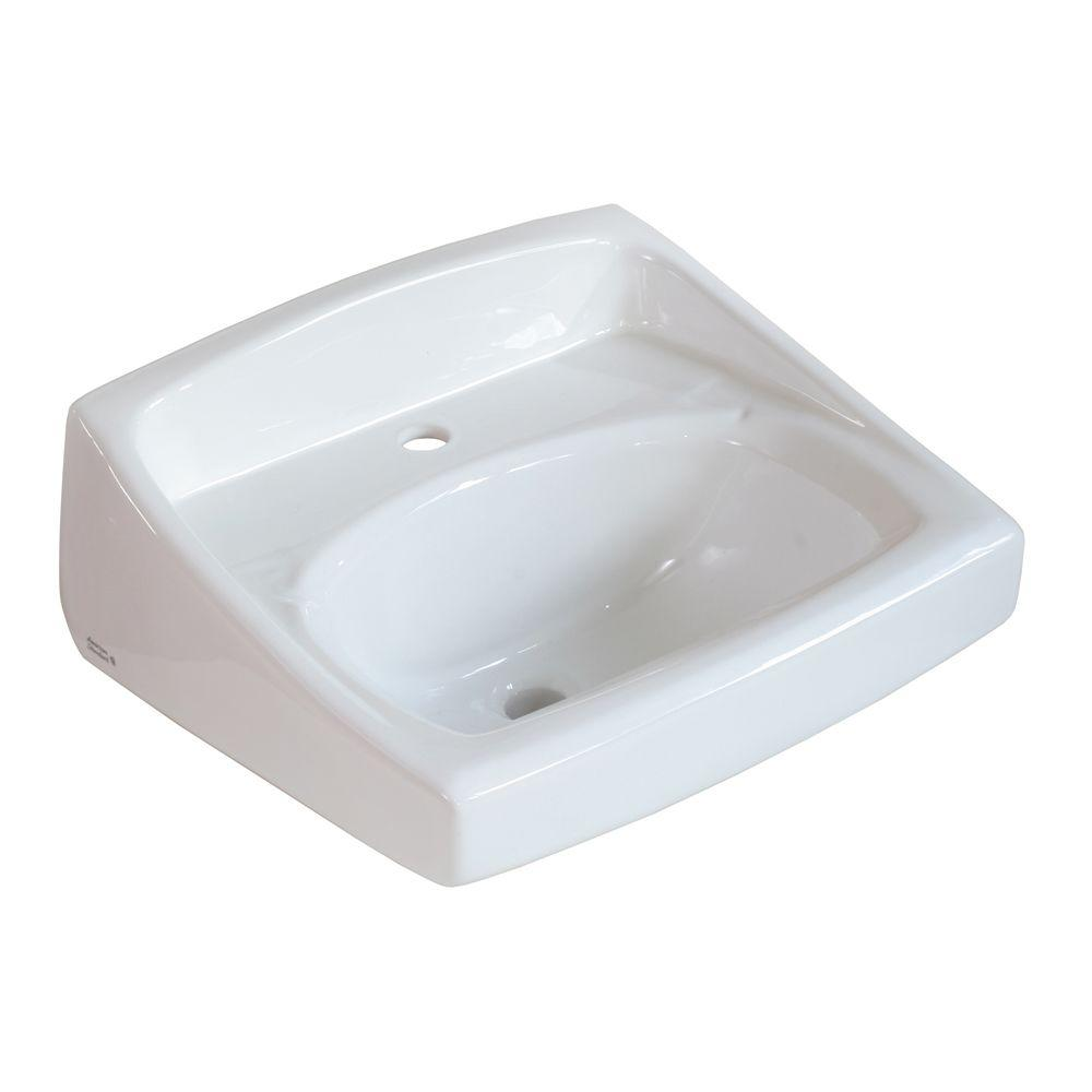 American Standard Lucerne Wall-Mounted Bathroom Sink for Exposed ...