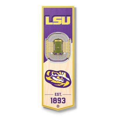 Youthefan Ncaa Lsu Tigers 6 In X 19 In 3d Stadium Banner Tiger Stadium 0953227 The Home Depot