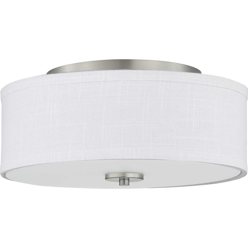 Inspire LED Collection Brushed Nickel Integrated LED Flush Mount