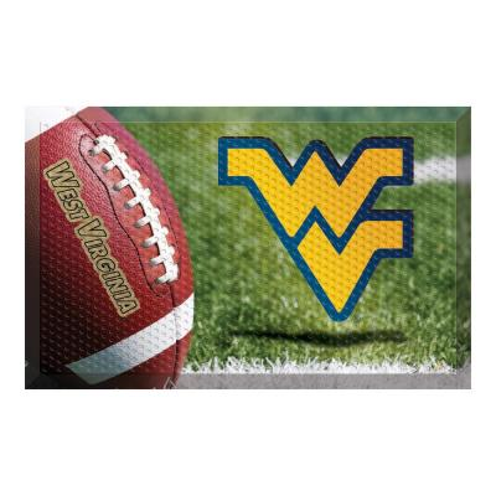 West Virginia University Football Heavy Duty Rubber Outdoor Scraprer Door Mat
