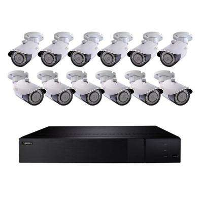 32-Channel 4K 3TB H.265 NVR Security Surveillance System with (12) 8MP IP Bullet Cameras