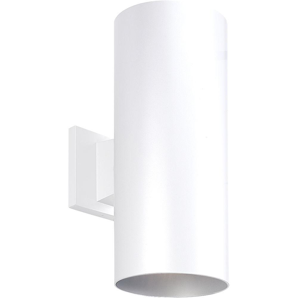 2-Light White Outdoor Wall Lantern