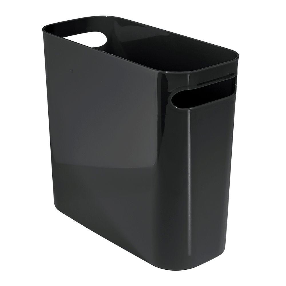 interDesign Una 10 in. Waste Can in Black