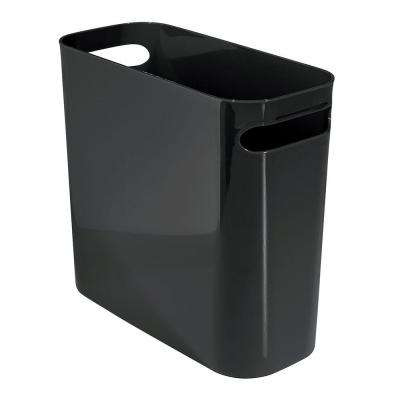 Una 10 in. Waste Can in Black