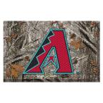 MLB - Arizona Diamondbacks 19 in. x 30 in. Outdoor Camo Scraper Mat Door Mat