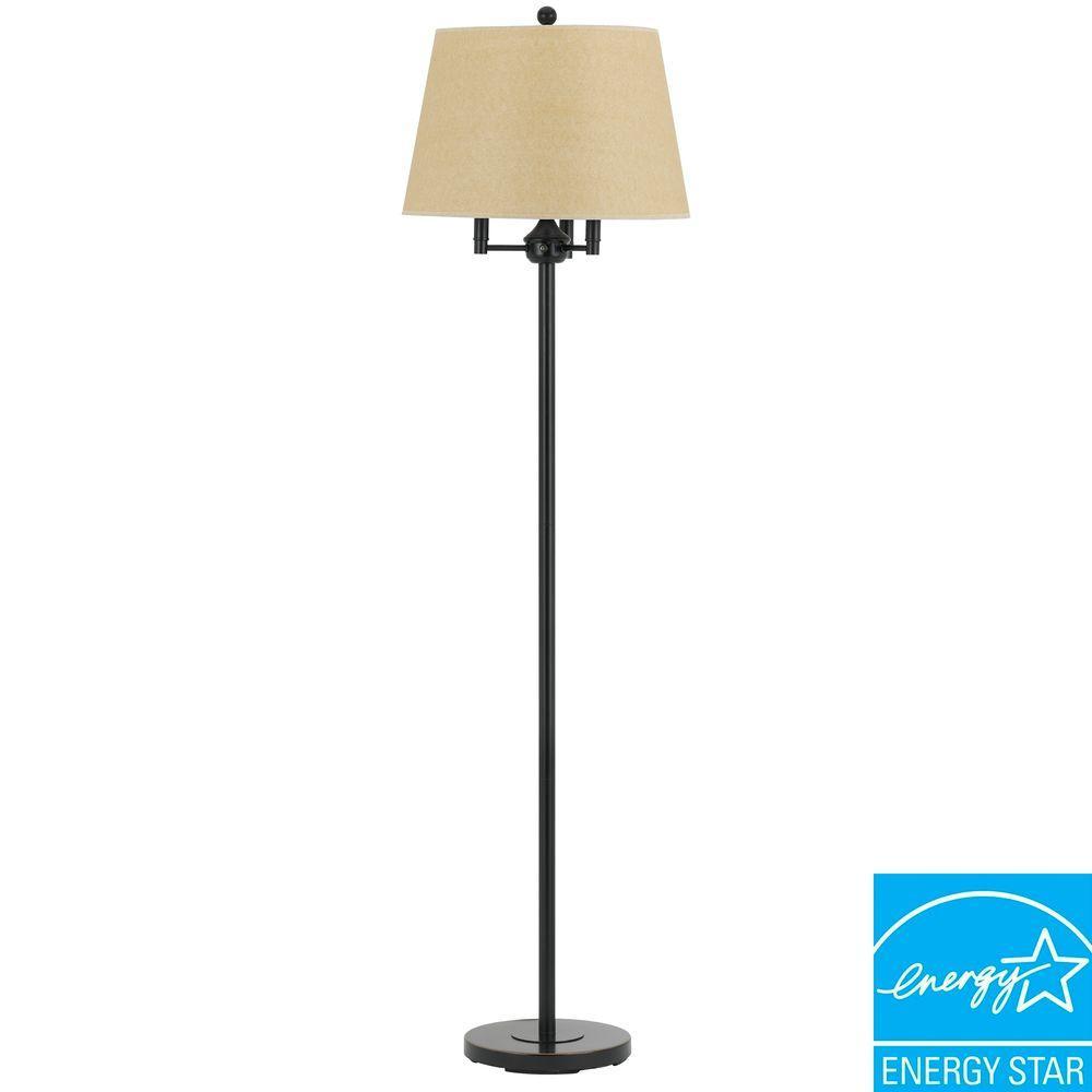 62 in. Six Way Andros Floor Lamp in Dark Bronze