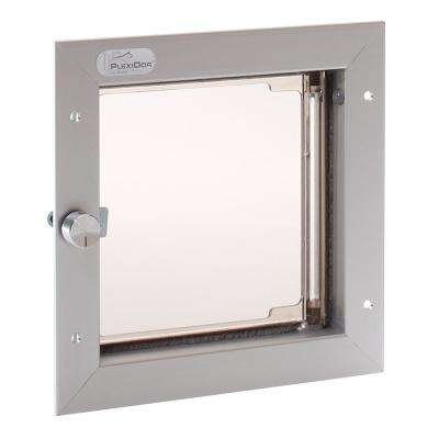6-1/2 in. x 7-1/4 in. Small Silver for Cat or Small Dog Door Mount