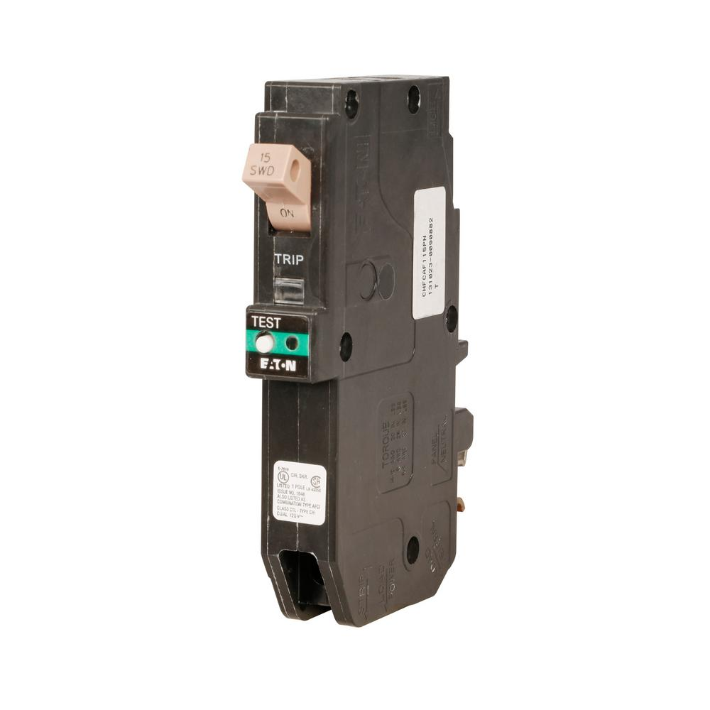 Eaton 20 Amp 1 Pole Type Ch Arc Fault Plug On Neutral Circuit Breaker