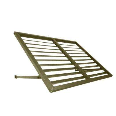 3.6 ft. Ohio Metal Shutter Awning (44 in. W x 24 in. H x 24 in. D) in Olive