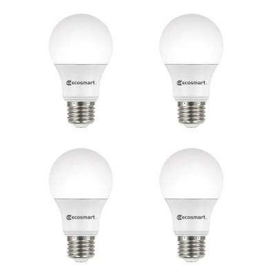 40-Watt Equivalent A19 Dimmable Energy Star LED Light Bulb Soft White (4-Pack)