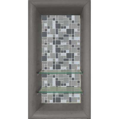 Newport 12 in. x 4 in. x 24 in. Shower Niche in Wet Cement