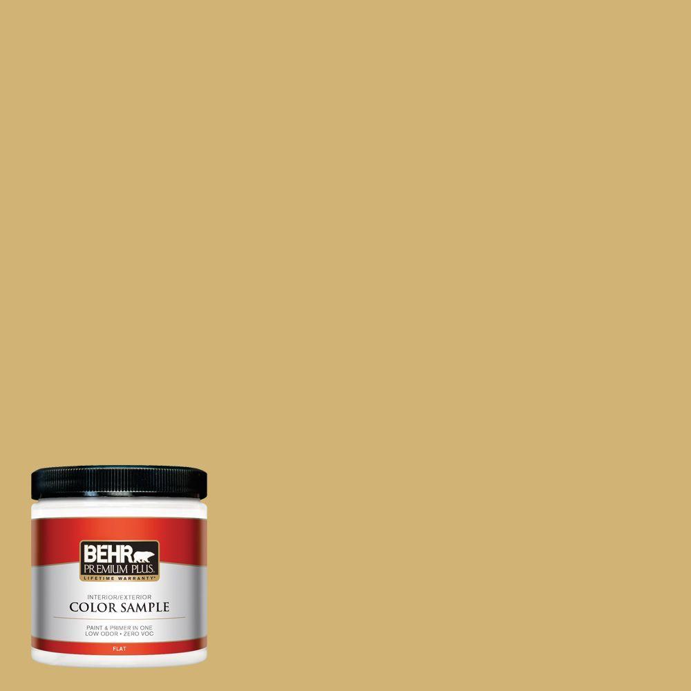 BEHR Premium Plus 8 oz. #M320-5 Dried Chamomile Interior/Exterior Paint Sample