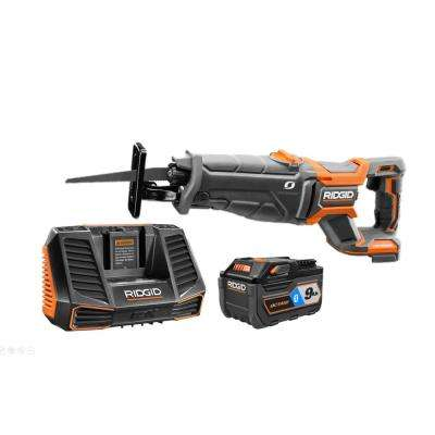 18-Volt OCTANE Cordless Brushless Reciprocating Saw Kit with 9 0 Ah OCTANE  Battery, Charger, and Saw Blade