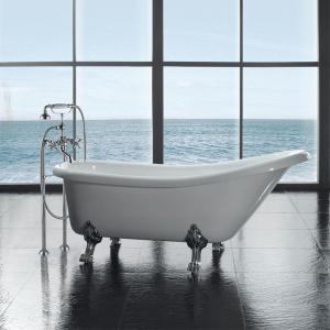 Ove Decors 5 5 Ft Acrylic Claw Foot Slipper Tub In White