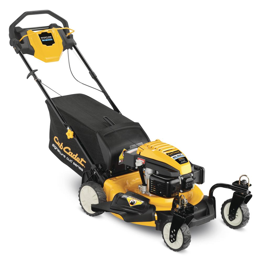 Cub Cadet 21 in. 159cc 3-in-1 RWD Walk-Behind Self Propelled Gas Mower with Front Caster Wheels