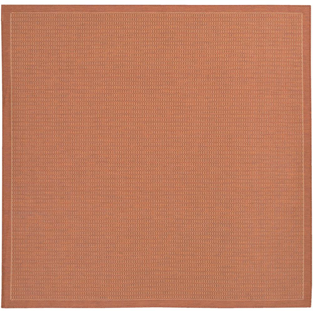 Couristan Recife Saddle Sch Terracotta Natural 9 Ft X Square Indoor
