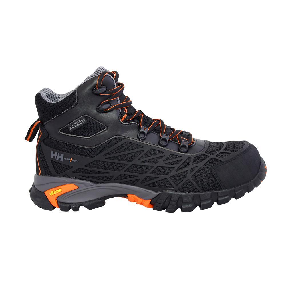 Terreng Mid Men's Size 8 Black/Orange Nylon Mesh Puncture Resistant Waterproof Work Boot