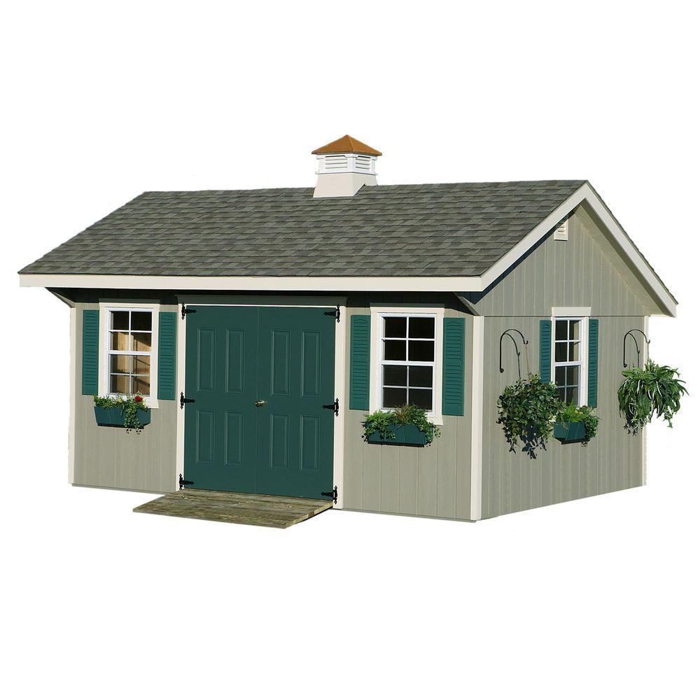 HomePlace Structures 12 ft. x 20 ft. Bungalow Garden Building with Floor