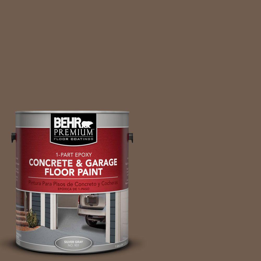 BEHR Premium 1-Gal. #PFC-35 Rich Brown 1-Part Epoxy Concrete and Garage Floor Paint
