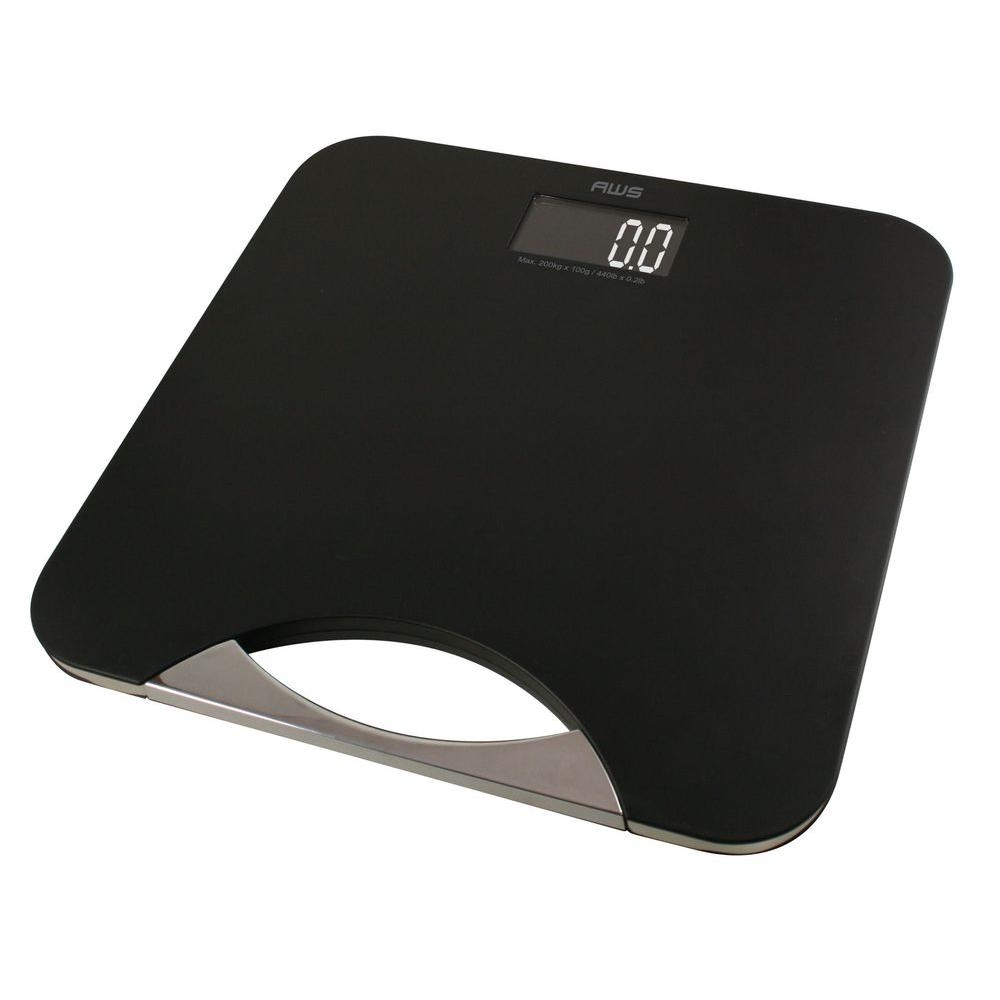 American Weigh Scales Digital Bathroom Scale In Chrome And Black