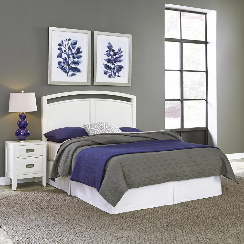 Newport 2-Piece White Queen Bedroom Set