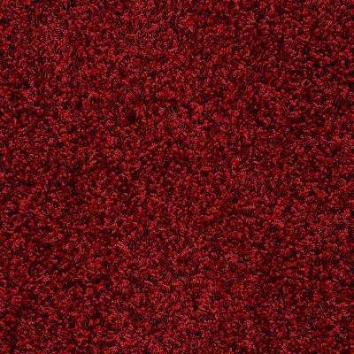 Carpet Sample - Whimsical - In Color Red Rover Twist 8 in. x 8 in.