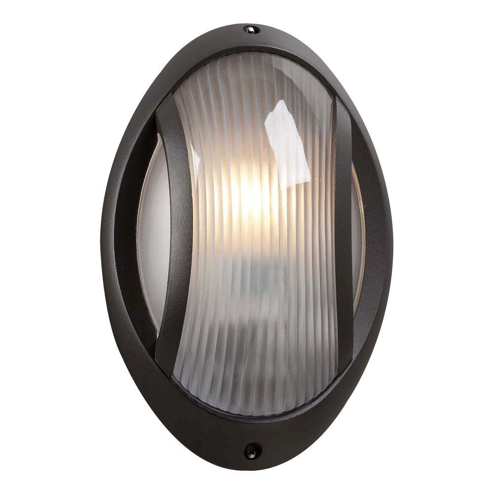 PLC Lighting 1 Light Outdoor Wall Sconce Bronze Finish Frost Glass