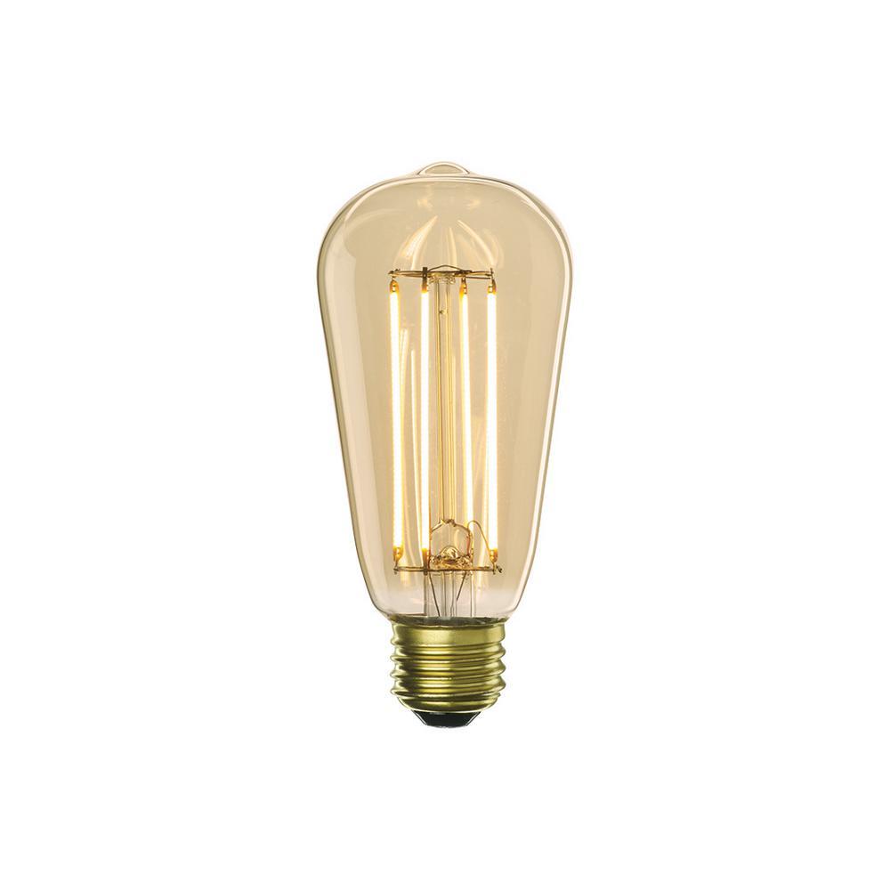 Bulbrite 40w Equivalent Warm White Light B11 Dimmable Led: Bulbrite 40W Equivalent Amber Light ST18 Dimmable LED