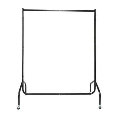 47 in. x 59 in. Iron Black Garment Rack