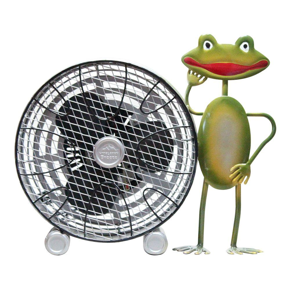 WBM Himalayan Breeze 9 in. Decorative Frog With Wheel Table fan (Medium)