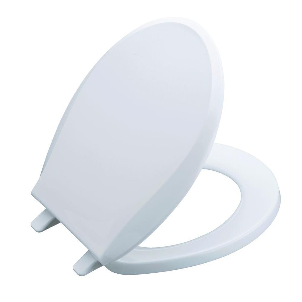 KOHLER Cachet Round Closed Front Toilet Seat in White